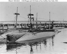 The USS Plunger and the USS Shark - Subs in 1902!!!