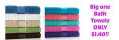 KOHLS: The Big One Bath Towels as low as $1.40 SHIPPED (reg. $9.99!!) These make for great donation items to homeless shelters!!