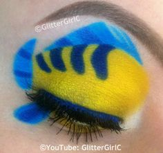 Flounder makeup. YouTube channel: https://www.youtube.com/user/GlitterGirlC