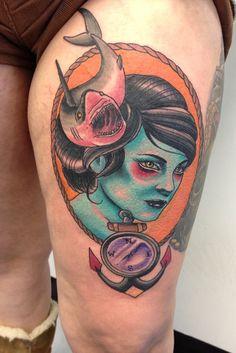 Neo traditional tattoos by Justin Harris Tattoo, via Flickr