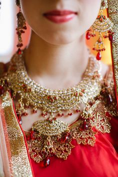 Gold and red bridal jewels: http://www.stylemepretty.com/collection/2745/