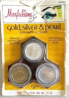 Vintage-Maybelline-Cream-Eye-Shadows-1960s-Gold-Silver-and-pearl