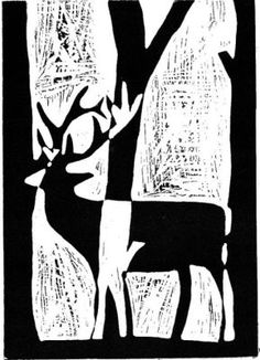 Blumen Linolschnittdrucke Holzschnittdruck Linoldruck 0