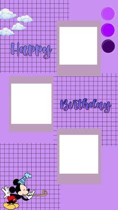 Purple Happy Birthday, Happy Birthday Frame, Happy Birthday Wallpaper, Birthday Frames, Birthday Cards, Birthday Captions Instagram, Birthday Post Instagram, Happy Birthday Posters, Happy Birthday Template