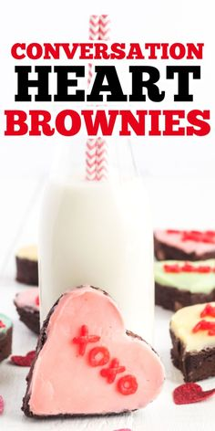 These Conversation Heart Brownies make great Valentine's Day treats for teachers, friends or family! Decorate with your favorite colors and quotes. #brownies #valentinesday #valentine #potluck #partyfood #holidayrecipe #amandascookin
