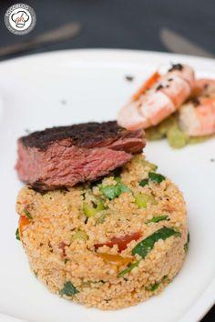 Couscous-Salat: Perfekte Grillbeilage, aber auch Hauptmahlzeit #BBQ, #Salat, #Vegan, #Veggie #foodblog #foodie #food #rezept #foodblog_de #foodpics #rezepte www.gernekochen.d...