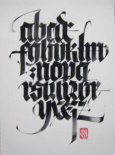 Blackletter alphabet by Luca Barcellona