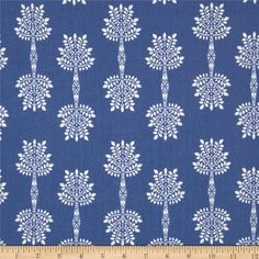 Art Gallery Safari Moon African Palm Indigo from @fabricdotcom  Designed by Frances Newcombe for Art Gallery Fabrics, this cotton print is perfect for quilting, apparel and home decor accents.  Colors include blue and white.  Art Gallery Fabric features 200 thread count of finely woven cotton.