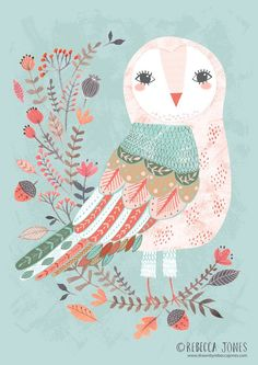 (via ©Rebecca Jones | Art: Birds | Pinterest)