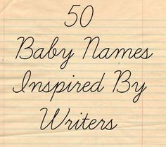 Baby name inspiration for parents searching for a name with literary roots. Click through to check out these 50 baby names inspired by famous writers! Name Inspiration, Writing Inspiration, Emma Bebe, Writing Characters, Baby Makes, Character Names, Everything Baby, Baby Time, Boy Names