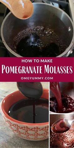 Pomegranate Molasses, originating in cuisines of the Middle East, will become your new favorite kitchen condiment. It is easily made by reducing down pomegranate juice or you can buy it at your local Middle Eastern market or online. Perfect for #salads #dressings #marinades #vegetables #lamb #beef #chicken #fruit #middleeasterncuisine #Persiancuisine #kitchencondiments #kitchenstaples