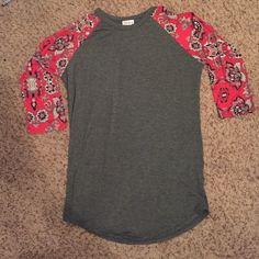 Lula Roe Randy Lula's baseball tee! Worn a few times but in excellent condition LuLaRoe Tops