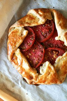 HEIRLOOM TOMATO & CHEESE GALETTE