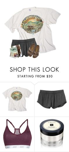"""""""..."""" by erinleigh02 ❤ liked on Polyvore featuring RVCA, NIKE, Jo Malone, Meggie and Birkenstock"""