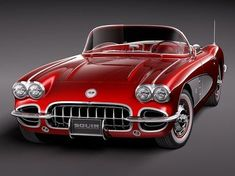 Chevy Corvette~ oh yah! how's that for a little red corvette? Chevy, Chevrolet Corvette C1, 1958 Corvette, Pontiac Gto, Us Cars, Sport Cars, Vintage Cars, Antique Cars, Amazing Cars