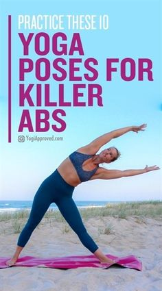 Yoga is the perfect tool to help you build core strength. These 10 yoga poses for abs will help you develop and maintain killer abs!  #YogaPoses