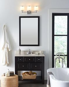 The #Prospectpark Collection from #Feiss offers traditional elements with a modern design that creates an upscale, simple look. This bath Vanity is the perfect upgrade for an traditional bathroom looking to add a some life to their lighting!  Check pricing and availability at a Granite City Showroom near you:http://www.granitecityelectric.com/locations-showrooms/index.cfm