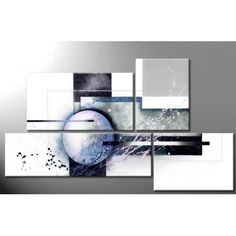 Peinture abstraite en 4 parties