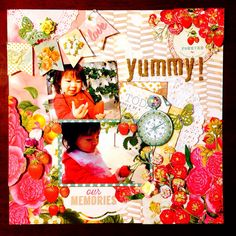 yummy! by:はる #スクラップブッキング