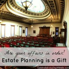 estate planning is a gift - think to make sure things are in order - create legacy Drawer