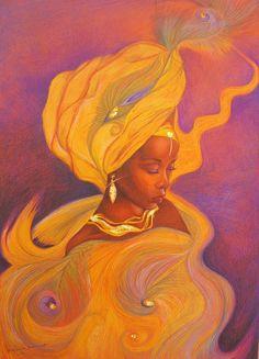 Oshun goddess by Bernadett Bagyinka