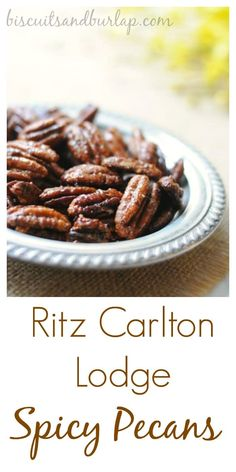 These Spicy Pecans are just addictive. From BiscuitsandBurlap.com