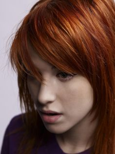Love the bangs and this color.