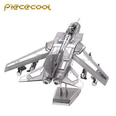 Piececool+3D+Metal+Puzzle+Tornado+Fighter+Jets+Building+Kits+P070S+DIY+3D+Laser+Cut+Models+Toys