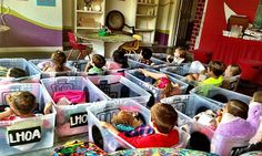 """Looks like a fun place and an even more fun idea - """"cars"""" for a drive in movie from storage bins!"""