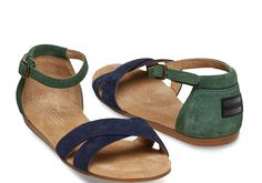 The Navy Galapagos Suede Women's Correa Sandals are made for traveling the great outdoors. #travelingTOMS