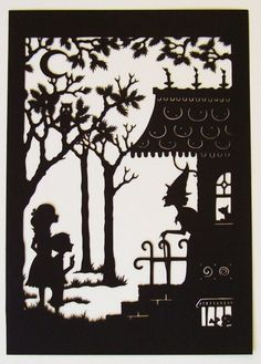 Jan Pienkowski is a childrens illustrator silhouette illustration project? Origami, Paper Cutting, Cut Paper, Hansel Y Gretel, Paper Art, Paper Crafts, Shadow Puppets, Fairytale Art, Silhouette Art