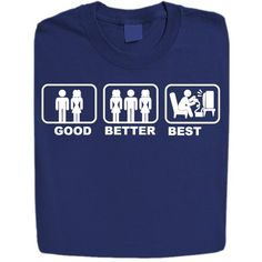 Stabilitees Funny Printed in Good-Better-Bestin Design Mens T Shirts Navy Blue Large ...