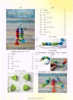 Crochet Wallet, Crochet Keychain Pattern, Crochet Gifts, Diy Crochet, Crochet Fish Patterns, Crochet Patterns Amigurumi, Crochet Dolls, Cat Amigurumi, Crochet Key Cover