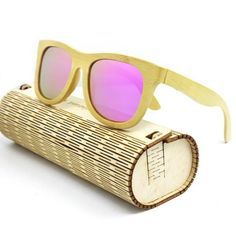 f18ef84a4d Bamboo Sunglasses Polarized Men Women Goggle Style