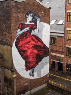 """""""Serenity"""", Street Art by Snik spotted in Manchester, UK. #StreetArt #Graffiti #Mural #Manchester #UK"""