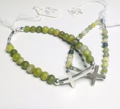 Items similar to Matching Mother and daughter Connemara Marble Bracelets with integrated curved silver cross, Any occasion gift, Choose your size on Etsy Connemara, Marble, Daughter, Beaded Bracelets, Silver, Gifts, Jewelry, Presents, Jewlery
