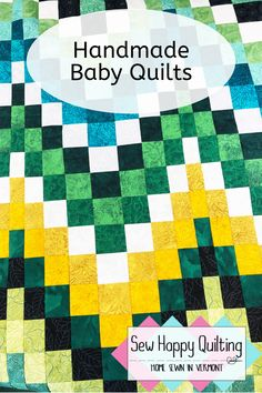 Do you need a handmade baby quilt to bring to your next baby shower? They make wonderful heirloom gifts. There are a variety of baby quilts available for purchase at Sew Happy Quilting on Etsy. Baby Shower Gifts, Baby Gifts, Handmade Baby Quilts, Quilts For Sale, Fabric Rug, Childrens Gifts, Diy Home Crafts, Mug Rugs, Craft Organization