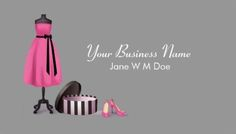 cute pink and black couture fashion boutique business cards httpwwwzazzle - Boutique Business Cards