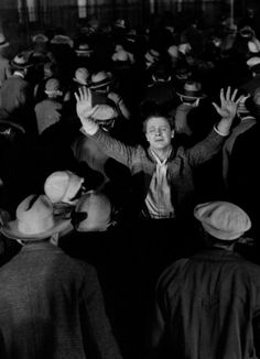 """James MurrayinThe Crowd(1928, dir. King Vidor) (via) """"We do not know how big the crowd is, and what opposition it is…until we get out of step with it."""""""