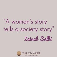 Words of wisdom from Zainab Salbi, founder of Women for Women International