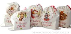 Personalised African Christmas Tracy Paul Santa Sacks from www.macaroon.co.za
