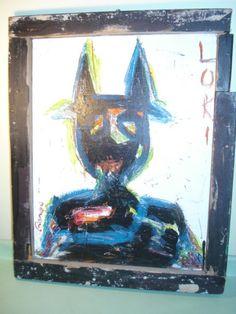 Outsider Art Folk Art RonGo Painting of Loki by raleighmodern, $110.00
