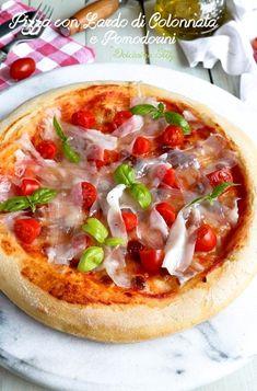 Pizza con Lardo di Colonnata e Pomodorini di Stefania