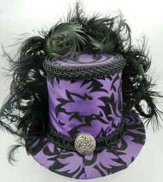 Steampunk beautiful purple and black top hat