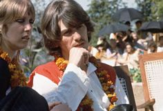 """Pattie & George in Bangor and Rishikesh """"Once you open any door that let's in more information on life and why we're here, you pursue that and it opens up other doors, and it's just endless; ancient..."""