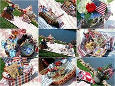 Gorgeous Patriotic Picnic from Home is Where the Boat Is blog ~ <3 <3 <3