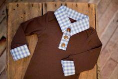 Preppy Baby Boy Layered Button Up Collar by RockingHorseLane, $30.00