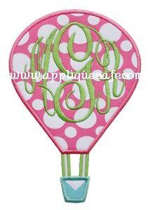 Hot Air Balloon Applique Design
