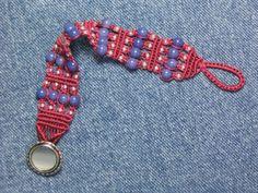 Blue Jean Baby Micro Macrame Bracelet  ON SALE