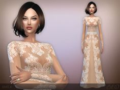 Lace long dress at BEO Creations via Sims 4 Updates